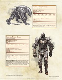 DnD 5e Homebrew (Search results for: Monster) metal golem war forge stats homebrew