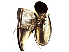 Gold shoes from Brother Vellies.