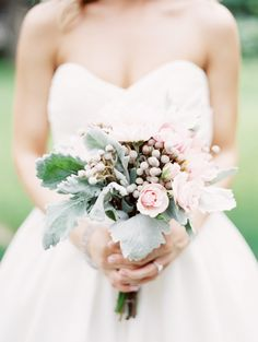 Soft and romantic florals | Illinois Wedding at The Stonegate from Evan Hunt Photo  Read more - http://www.stylemepretty.com/illinois-weddings/2013/09/04/illinois-wedding-at-the-stonegate-from-evan-hunt-photo/