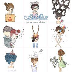Ilustrações de Mônica Crema - Fruto da Imaginação