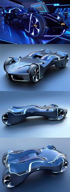 This design is a distillation of the perfect essence of Tron and Chevy in one machine, it features two capsules for riders in a Lightcycle-inspired position and a  liquid, high-frequency rendered body shell which smoothly adjusts to steering movements of the front wheels... READ MORE at Yanko Design !