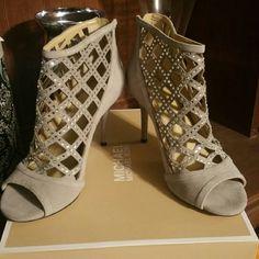 Michael Kors  open toe Bootie Brand new   Open Toe Bootie Michael Kors  Shoe Michael Kors Shoes Heeled Boots