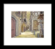 Framed Art Print,  buildings,town,old,alley,medieval,architectural,theme,narrow,street,road,romantic,townscape,moody,deserted,abandoned,houses,brown,green,grey,image,fine,oil,painting,contemporary,scenic,modern,virtual,deviant,wall,art,beautiful,awesome,cool,artistic,artwork,for,sale,home,office,decor,decoration,decorative,items,ideas