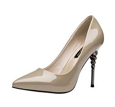 TMates Womems Pointed Closed Toe High Heel Slip On Stiletto Pumps Wedding Party Shoes 6 BMUSBeige ** More info could be found at the image url.-It is an affiliate link to Amazon. #WeddingShoes