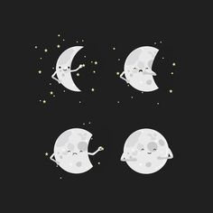 Makes me think of my best friend, and our obsession with the moon. :)