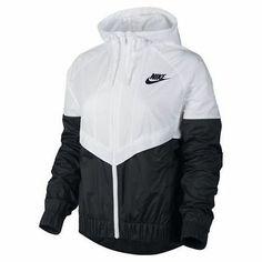 Nike Windrunner Jacket - Women's at Foot Locker Womens Windbreaker, Windbreaker Jacket, Nike Outfits, Hoodie Sweatshirts, Nike Rain Jacket, Nike Windrunner Jacket, White Nike Hoodie, Trendy Hoodies, Swag Outfits