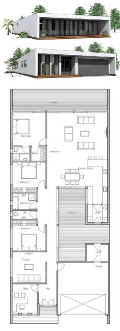 Container House - Plan de Maison, Petite Maison Plus - Who Else Wants Simple Step-By-Step Plans To Design And Build A Container Home From Scratch? Contemporary House Plans, Modern House Plans, Small House Plans, House Floor Plans, Building A Container Home, Container House Plans, Container Homes, Minimalist House Design, Modern House Design