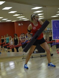 Simone Hodgkinson teaching ViPR Group Fitness
