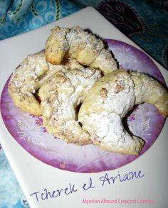 Algerian almond crescent cookies