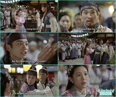 the market people gather and start gossiping so hoo appear and without listeing anything accuse Ban ryu -  Hwarang - Episode 7 Review