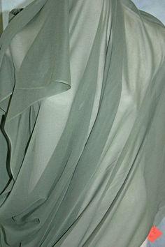 Celadon Green Silk Chiffon
