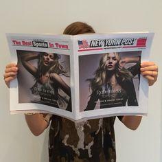 Hot off the press!  #ExtraExtra #ReadAllAboutIt #topshopxkatemoss #NYpost #topshopnyc #soho
