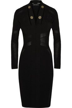 Versace Embellished cutout stretch-knit dress @gtl_clothing #getthelook http://gtl.clothing