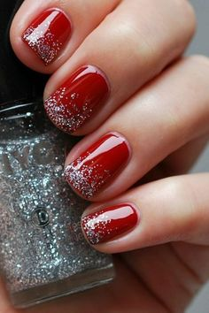 96 Awesome Red Nail Art Ideas, Nail Design Red Nails Coffin Acrylic Designs Art Ideas, Amazing Red Nail Art Designs & Ideas for Girls 2013 90 Red Nail Art Designs 2019 Best Manicure Ideas Nailsstock, Look at these Red Nail Art Ideas. Nail Designs 2017, Black Nail Designs, Nail Art Designs, Cute Red Nails, Red And Gold Nails, Pretty Nails, Christmas Manicure, Christmas Nail Art, Holiday Nails