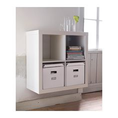 Beau KALLAX Shelving Unit   White   IKEA   If Thereu0027s Room On Either Side Of The  Dining Table, These Could Be A Cute Little Addition, Especially If I Put A  Bench ...