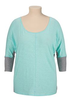 Teal scoop neck dolman plus size top (original price, $22) available at #Maurices