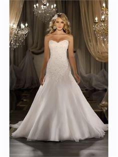 f94105a72cb81 A Line Sweetheart Beading Lace Organza Wedding Dress AWD320044 Dream Wedding  Dresses