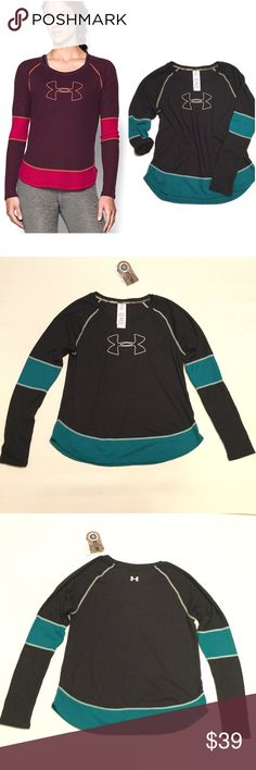"""Under Armour Fitted Top Brand new with tag. Size large. Classic textured waffle knit traps heat for extra warmth without weighing you down. Bust approx 41"""" length approx 26.5"""". Polyester Under Armour Tops"""