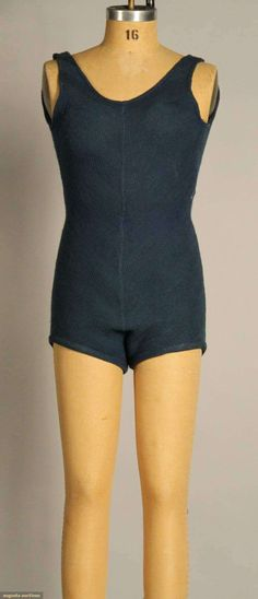 Schiaparelli Wool Knit Bathing Suit, 1930s, Augusta Auctions, November 10, 2010 - St. Pauls - NYC, Lot 128