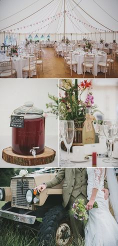 A Rustic Garden Wedding With A Ronald Joyce Lace Dress And A Handpicked Bouquet With A Groom In Tweed Photographed By McKinley Rodgers 0009 ...