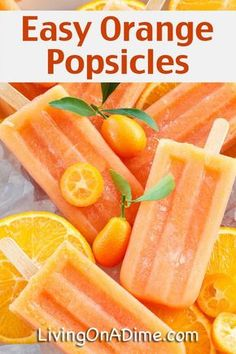 Easy Homemade Orange Popsicles Recipe - 14 EASY Recipes You Kids Will LOVE!