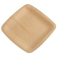 "Bambu 063200 9"" Disposable Square Bamboo Plate 25 / Pack"