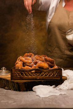ROSCOS FRITOS DE SEMANA SANTA   Yerbabuena en la cocina Sin Gluten, Crepes, Tapas, Meat, Cold, Gastronomia, Saints, Donut Hole Recipe, Bagels