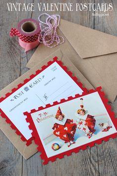 vintage valentine postcard Nobiggie.net #freeprintable