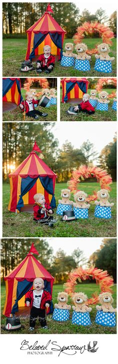 Circus Themed 1st Birthday Portrait   First Birthday Session   Fayette County GA Child Photographer   Beloved Sparrow Photography   www.belovedsparrow.com   Peachtree City Child Photographer
