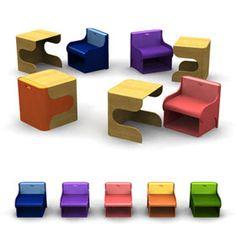Peças de mobiliario infantil diferentes