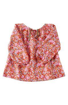 Peek 'Nina' Floral Print Top (Baby Girls)