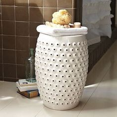 Bathroom!  Bubbles Ceramic Side Table - asian - side tables and accent tables - by West Elm