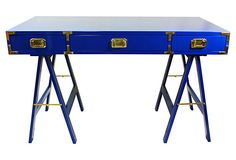 If the legs were not painted and natural wood...  Cobalt Blue Campaign Desk on OneKingsLane.com