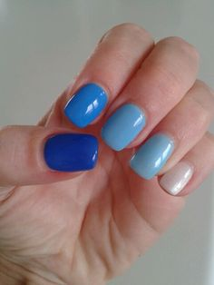 blue to white