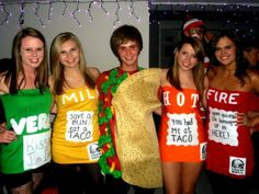 The 37 Best Co-ed Group Halloween Costumes for 2017. Best Group Halloween CostumesCreative CostumesTaco Bell SauceTaco ...  sc 1 st  Pinterest & Halloween costume. Taco Bell taco sauce packet..so cute! | My ...