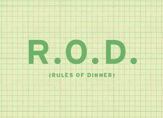 dinner rules