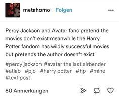 Percy Jackson Memes, Percy Jackson Fandom, Harry Potter Jokes, Harry Potter Fandom, Nerd Problems, Fandom Crossover, Rick Riordan Books, Book Memes, Book Fandoms