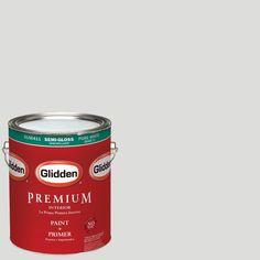 Glidden Premium 1-gal. #HDGCN55 Silver Screen Semi-Gloss Latex Interior Paint with Primer