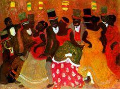 """""""Candombe"""" de Pedro Figari: pintor uruguayo de la ciudad colonial y los candombes."""