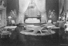 Hollywood Regency styled bedroom.