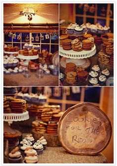 I've always loved the idea for a cookie bar instead of cake at a wedding.  Partially because I think wedding cake isn't always moist and partially because the pie bar was so wonderful at Christine's wedding.