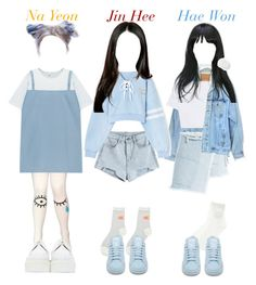 A fashion look from November 2016 by candyhyperkidd featuring Chicnova Fashion, Levi's, Sandy Liang, adidas and Underground Kpop Fashion Outfits, Stage Outfits, Dance Outfits, Cute Outfits, Only Fashion, Womens Fashion, Fashion Trends, K Pop, Grunge Fashion