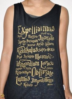 Hey, I found this really awesome Etsy listing at http://www.etsy.com/es/listing/159243301/harry-potter-magical-witchcraft-tank-top