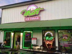 Matt's Homemade Alabama Ice Cream has two locations: 1308 Gulf Shores Pkwy, Gulf Shores, AL 36542 and   701 Gulf Shores Pkwy, Gulf Shores, AL 36542.