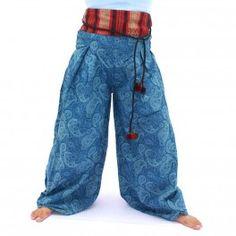 Huelga pantalones con diseño impreso etno