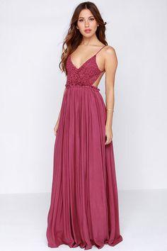 elegant Blooming Prairie Maxi Dress in Berry Pink