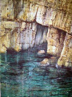 Deborah Walker Stackpole Cave Walker Art, River, Watercolor, Acrylics, Landscapes, Painting, Outdoor, Artists, Rock