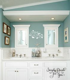 beach theme bathroom stone shower floating shelves shell decor rh pinterest com