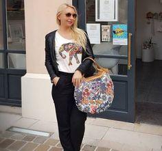Séance shopping pour @merepasparfaiteetalors avec son nouveau sac estival BABOU !