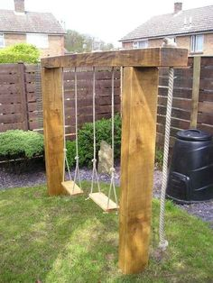 40 DIY Playground Project Ideas for Backyard Landscaping Backyard Swings, Small Backyard Landscaping, Backyard For Kids, Backyard Projects, Backyard Patio, Landscaping Design, Landscaping Plants, Backyard Tennis Court, Florida Landscaping